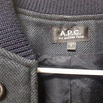 Apc Dark Navy Wool Bomber Jacket Photo