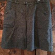 Apc Gray Wool Blend Lined Skirt Sz 36 Euc Pockets Buttons Photo