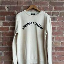 Apc Mens Sweatshirt 100% Cotton Sz Medium Portugal Semiology College Photo