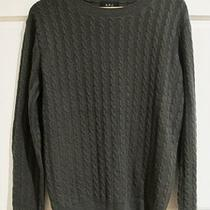 Apc Mens Cable Knit 100% Cashmere Crewneck Sweater Size Small Mushroom a.p.c. Photo