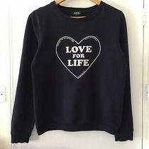 Apc Navy Blue Love for Life Printed Cotton Sweatshirt Size S Photo