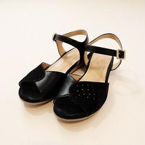 Apc Navy Suede Wedge Sandals Sz 38 Made in Portugal Photo