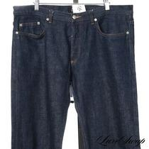 Apc Paris New Standard Jean Classique Raw Blue Indigo Selvedge Denim Jeans 36 Nr Photo