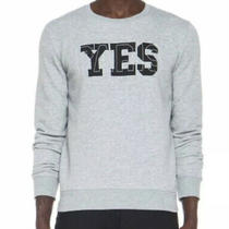 Apc Paris Yes Gray Crewneck Mens Unisex Sweatshirt Sweater Top M Photo