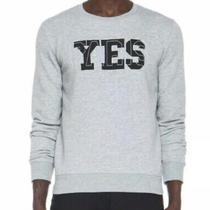 Apc Paris Yes Gray Crewneck Mens Unisex Sweatshirt Sweater Top M Photo