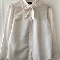 Apc Pussy Bow Silk Blouse Top - Size Xs Photo