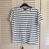 Apc Striped Cotton T-Shirt Size S Cotton Photo