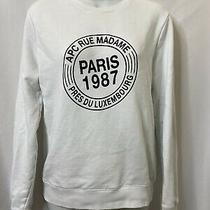 Apc Sweatshirt Size Xs White Spell Out Rue Madam  Photo