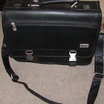 Apc Synthetic Leather Travel Case Messenger Bag Computer Great Condition Photo