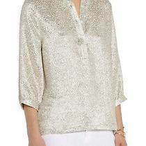 Apc & Vanessa Seward Silk Jacquard Blouse Top - Size Xs - Rrp 320 Photo