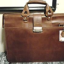 Apc Vintage Leather Briefcase Computer Lop Top/ Weekender Brown Color Photo
