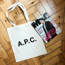 Apc X Men's Non No Magazine Canvas Tote Bag in Supreme Condition Photo