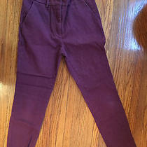 Apiece Apart Camilla High Waist Cranberry Trousers Pants Skinny Tailored 6 Photo