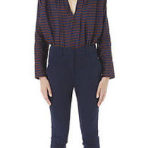 Apiece Apart Navy Camilla High Waisted Pant Us 4 a.p.c La Garconne Rp310 Photo
