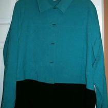 Apparenza Solid Aqua/black Shirt.  Size 24 Photo