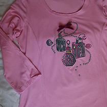 Apriori  by Escada T-Shirt/ Top /l Very Cute Unique Pink Perfume Bottles Photo