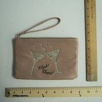Apt 9 Blush Gold Martini Glass Wristlet Wallet Purse Hand Bag - Flash Sale Photo