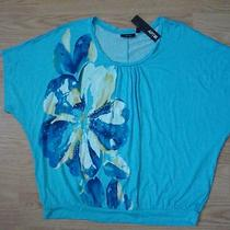 Apt 9 Floral Aqua Top  Pl Photo