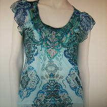 Apt. 9  Floral Sublimation  Top     Size  Large    Nwt  Photo