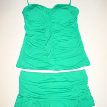 Apt. 9 Tankini Skirtini 12 (See Measurments) Aqua Ocean Photo