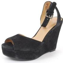 Aqua 0413msu1361 Black Wedges Strappy Women Shoes 5.5 M Photo