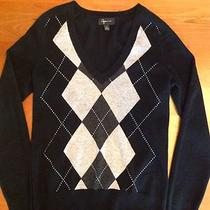 Aqua Argyle Cashmere Sweater Large Photo