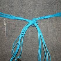 Aqua Blue Bohemian Braided Knotted Tie Wax Cord Belt Free Ship Photo