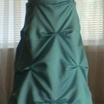 Aqua Blue Dream Bridesmaid Prom Party Gown Formal Size 12 Photo