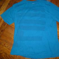 Aqua Blue Guitar Shirt Old Navy- Size L Photo