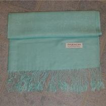 Aqua Blue Pashmina Shawl Cashmere Wrap Wool Silk Scarf Photo
