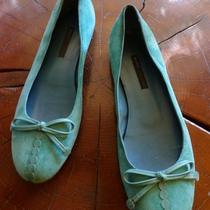 Aqua Blue Suede Marc Jacobs Ballet Flatssize 8.5 Minteresting Details Photo