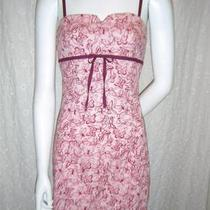 Aqua Blues Women's Pink Spaghetti Straps Butterfly Print Summer Dress Sz. M Photo