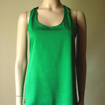 Aqua Brand Lace Back Racerback Tank Top Green Black S 58 4530 Bm1 Photo