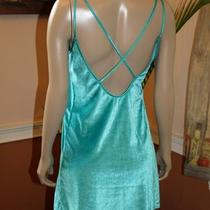 Aqua Cross Back S Nightgown Chemise Pajama Negligee Velvet Velour Lingerie Photo