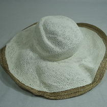 Aqua Gold Trimmed Sun Hat White/gold One Size Nwt Photo