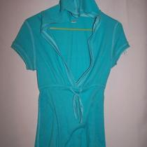 Aqua Knit Top Hoodie Mossimo Supply Co Size L Photo