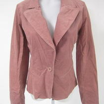 Aqua Mauve Corduroy Long Sleeve Button Front Blazer Jacket Size Medium Photo