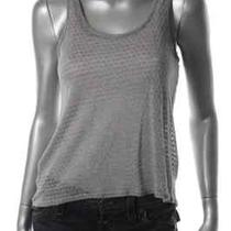 Aqua New Gray Metallic Racerback Sheer Front Tank Top Shirt S Bhfo Photo