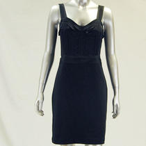 Aqua New Womens Black Silk Casual Dress M Nwt Sale 148 Photo