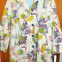 Aqua Paisley Woman 26w Rain/trench Coat Nwt by Harve Bernard  Photo