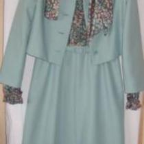 Aqua/print 4pc Custom Made Ensemble Nwot   S-M Photo