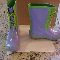 Aqua Stop Girls Toddlers Purple Vinyl Rain Boots Size 12 Med Nib 49.99 Kohl's Photo