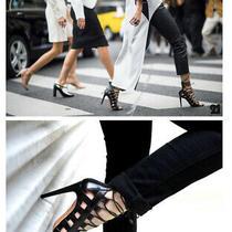 Aquazurra Amazon 105 Lace Up Sandals Heels - Black - Size 41 (Au10) - Rrp895 Photo