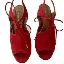 Aquazurra Metallic Red Tie Bow  Sandal  Size 38.5 Photo