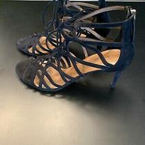 Aquazzura Black Suede Lace Up Strappy Heels Size 42 New Photo