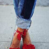 Aquazzura Wild Thing Fringed Suede Sandals Hees Shoes Photo