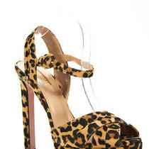 Aquazzura Womens Coquette Plateau 140 Sandals Heels Brown Black Size 41 11 Photo