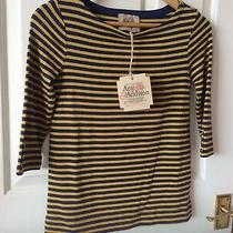 Arabella & Addison Casual T Shirt Top Size 8 Bnwt Blue/yellow Striped Photo