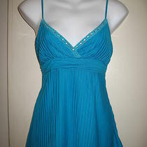 Arden B. Aqua Blue Tie at the Waist Cami Small Photo
