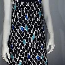 Arden B. Black 100% Silk Polka Dot Spaghetti Strap Mini Baby Doll  Dress M Nwot Photo
